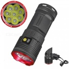 AIBBER TONE High Quality 8000LM 8 x XM-L T6 LED Hunting Flashlight with Battery Power Digital Display