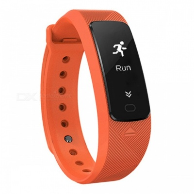 SMA B2 USB Charging Smart Watch Bracelet with Hear Rate Monitor - Orange