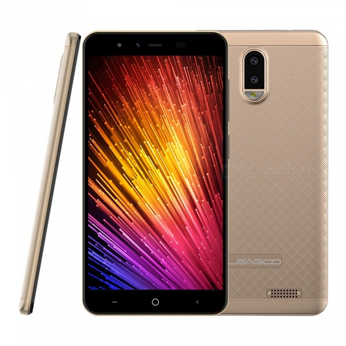 "LEAGOO Z7 Android 7.0 4G 5.0"" Phone w/ 1GB RAM, 8GB ROM, 3000mAh Large Battery - Gold"