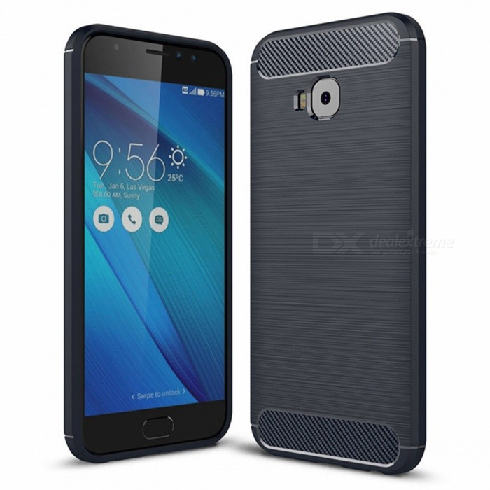 Naxtop Wire Drawing Carbon Fiber Textured TPU Brushed Finish Soft Phone Back Cover Case for Asus Zenfone 4 Selfie Pro ZD552KLTPU Cases<br>ColorBlueModelN/AMaterialTPUQuantity1 pieceShade Of ColorBlueCompatible ModelsAsus Zenfone 4 Selfie Pro ZD552KLPacking List1 x Case<br>