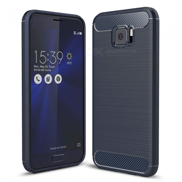 Naxtop Wire Drawing Carbon Fiber Textured TPU Brushed Finish Soft Phone Back Cover Case For Asus Zenfone V V520KL - BlueTPU Cases<br>ColorBlueModelN/AMaterialTPUQuantity1 pieceShade Of ColorBlueCompatible ModelsAsus Zenfone V V520KLPacking List1 x Case<br>