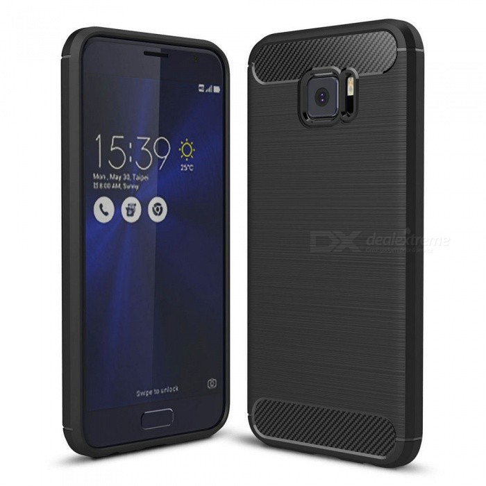 Naxtop Wire Drawing Carbon Fiber Textured TPU Brushed Finish Soft Phone Back Cover Case For Asus Zenfone V V520KL - BlackTPU Cases<br>ColorBlackModelN/AMaterialTPUQuantity1 pieceShade Of ColorBlackCompatible ModelsAsus Zenfone V V520KLPacking List1 x Case<br>