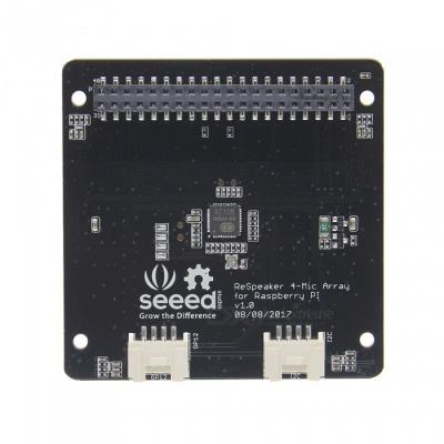 Geekworm ReSpeaker AC108 4-Mic (4 Microphone) Array Expansion Board for Raspberry Pi 3 Model B, 2B, B+, Pi Zero(w)