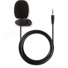 Kitbon 3.5mm small wired lavalier lapel omnidirectional condenser microphone w/ clip