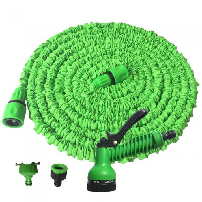 CARKING New Latex Garden Water Hose, 12.5m Expanding Flexible Water Gun Car Wash with Spray Nozzle - GreenCar Cleaning Tools<br>Length12.5 Metre-GreenModelN/AQuantity1 setMaterialPlasticShade Of ColorGreenTypeCar WashesIngredient ColorGreenPacking List1 x Hose Pipe1 x Joint1 x English Instruction Book<br>