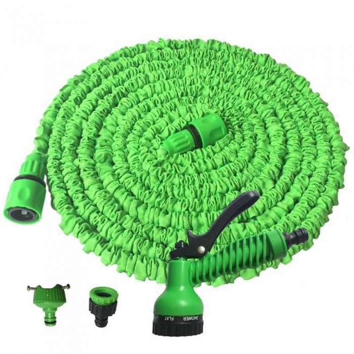 CARKING New Latex Garden Water Hose, 15m Expanding Flexible Water Gun Car Wash with Spray Nozzle - GreenCar Cleaning Tools<br>Length15 Metre-GreenModelN/AQuantity1 setMaterialPlasticShade Of ColorGreenTypeCar WashesIngredient ColorGreenPacking List1 x Hose Pipe1 x Joint1 x English Instruction Book<br>