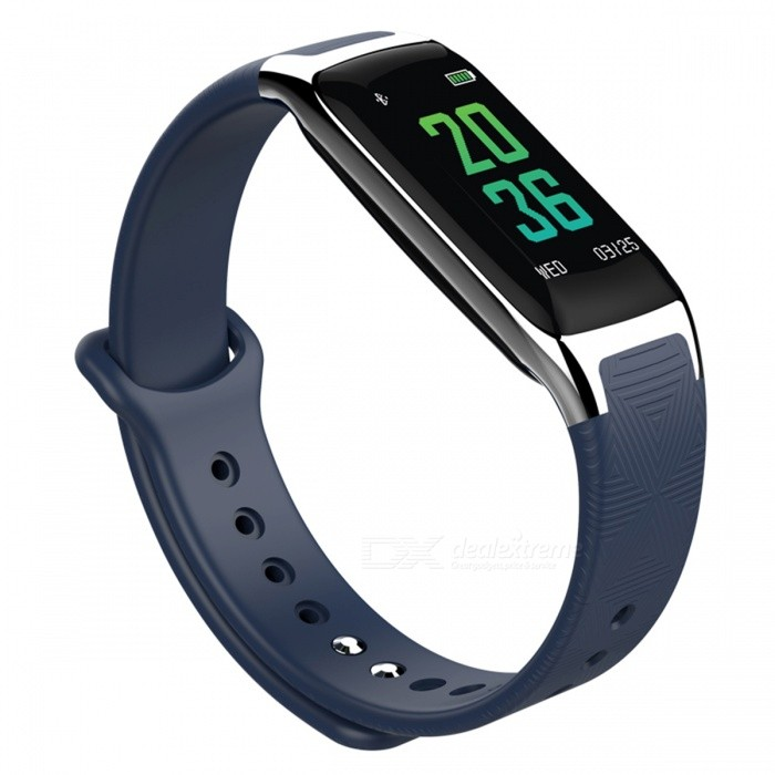 DMDG Smart Sports Wristband Bracelet with Blood Pressure Oxygen / Heart Rate Monitor, Sleep Monitor for iOS Android - BlueSmart Bracelets<br>ColorBlueModelN/AQuantity1 pieceMaterialAlloy + plastic, silica gelWater-proofIP67Bluetooth VersionBluetooth V4.0Touch Screen TypeIPSCompatible OSAndroid4.4 and above, for iOS 8.0 or aboveBattery Capacity90 mAhBattery TypeLi-ion batteryStandby TimeAbout 25 daysPacking List1 x Smart Bracelet1 x Charging Cable1 x User Manual<br>