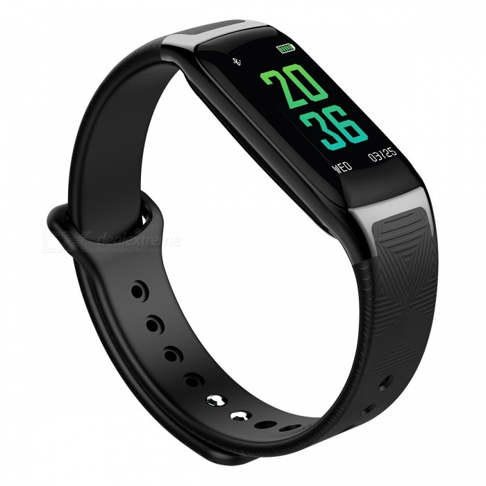 DMDG Smart Sports Wristband Bracelet with Blood Pressure Oxygen / Heart Rate Monitor, Sleep Monitor for iOS Android - BlackSmart Bracelets<br>ColorBlackModelN/AQuantity1 pieceMaterialAlloy + plastic, silica gelWater-proofIP67Bluetooth VersionBluetooth V4.0Touch Screen TypeIPSCompatible OSAndroid4.4 and above, for IOS 8.0 or aboveBattery Capacity90 mAhBattery TypeLi-ion batteryStandby TimeAbout 25 days hourPacking List1 x Smart Bracelet1 x Charging Cable1 x User Manual<br>