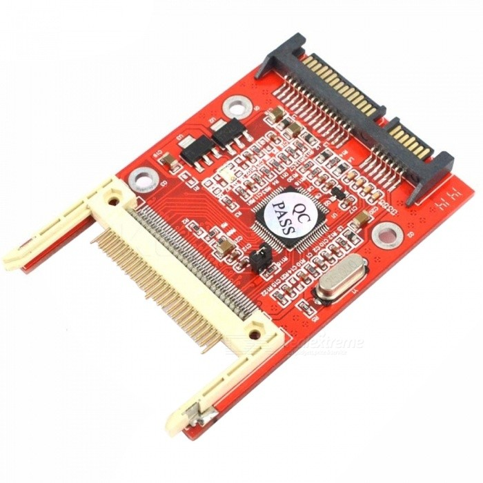 Kitbon CF Compact Flash Type I / II To 2.5 Inch SATA Serial ATA Adapter CardColorRedQuantity1 setForm  ColorRedMaterialPCBApplication SupportedPCPacking List1 x CF to Sata Adapter<br>