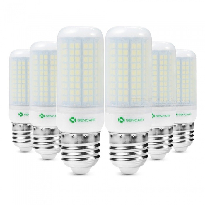 Sencart 6pcs E27 8W 800LM SMD Cool White Energy Saving LED Light Bulb Lamp Matte Shell  AC110V-130VE27<br>Emitting ColorCoole WhitePower SupplyAC110-130VModel180 LEDMaterialABS+LED+PCBForm  ColorOthers,MattingQuantity1 setPower8WPower SupplyOthers,AC110-130 VConnector TypeE27Chip BrandEpistarChip Type2835Emitter TypeOthers,2835SMDTotal Emitters180Color BINCold WhiteTheoretical Lumens1200 lumensActual Lumens800 lumensColor Temperature6500KDimmableNoBeam Angle360 °Packing List6 x LED Light Bulbs<br>