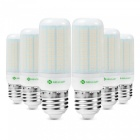 Sencart 6pcs E27 8W 800LM SMD Warm White Energy Saving LED Light Bulb Lamp Matte Shell AC 110V-130V