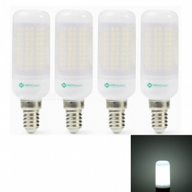 Sencart 4pcs E27 8W 800LM SMD Cool White Energy Saving LED Light Bulb Lamp Matte Shell AC 220-240V
