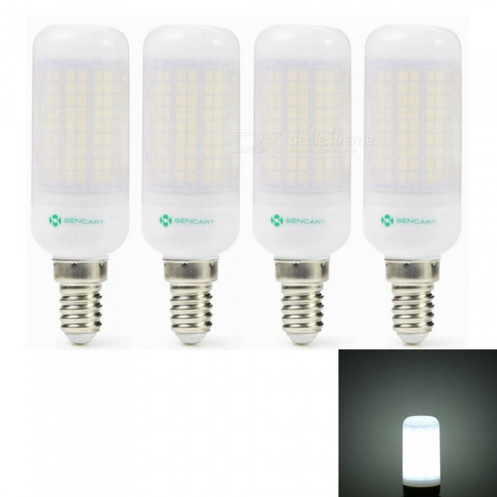 Sencart 4pcs E27 8W 800LM SMD Cool White Energy Saving LED Light Bulb Lamp Matte Shell AC 110V-130VE14<br>Emitting ColorCool WhitePower SupplyAC110-130VModel180 LEDMaterialABS+LED+PCBForm  ColorOthers,MattingQuantity4 piecesPower8WRated VoltageAC 110-130 VConnector TypeE14Chip BrandEpistarChip Type2835Emitter TypeOthers,2835SMDTotal Emitters180Theoretical Lumens1200 lumensActual Lumens800 lumensColor Temperature6500KDimmableNoBeam Angle360 °Packing List4 x LED Light Bulb<br>