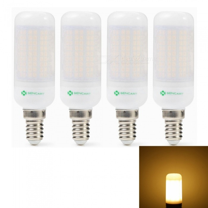 Sencart 4pcs E14 8W 800LM SMD Warm White Energy Saving LED Light Bulb Lamp Matte Shell AC 110V-130VE14<br>Emitting ColorWarm WhitePower SupplyAC110-130VModel180 LEDMaterialABS+LED+PCBForm  ColorOthers,MattingQuantity1 setPower8WRated VoltageAC 110-130 VConnector TypeE14Chip BrandEpistarChip Type2835Emitter TypeOthers,2835SMDTotal Emitters180Theoretical Lumens1200 lumensActual Lumens800 lumensColor Temperature3000KDimmableNoBeam Angle360 °Packing List4 x LED Light Bulbs<br>