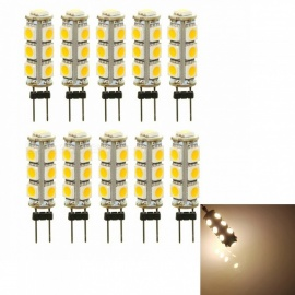 Sencart G4 Warm White 3000K 5050 13-LED Light Bulbs for  Replacement Halogen Bulbs (10 PCS / DC12V)