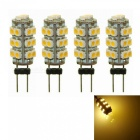 Sencart 4Pcs G4 SMD 3528 26-LED Warm White  DC 12V 2W RV Marine Boat Camper Light Bulb Lamp