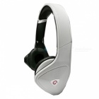 OJADE 3.5mm Wired On-Ear Bass Stereo Folding Headphone with Microphone - White