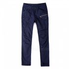 Ctsmart 1686 spring summer men's casual outdoor slim quick-dry pants trousers - dark blue (36)