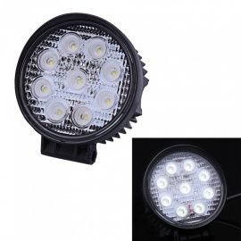 Qook Round White 9 LEDs High Power Fog Backup Car Truck Off Road Light Lamp Bulb
