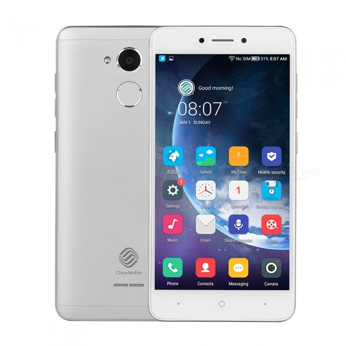 "China Mobile A3S Android 7.1 4G 5.2"" Cell Phone with 2GB RAM, 16GB ROM, 2800mAh Large Capacity Battery - Silver"