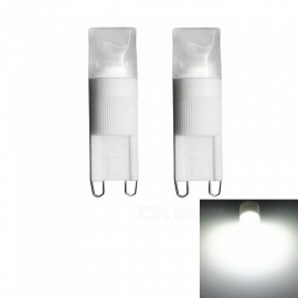 Sencart 2PCS G9 1W COB LED 6000K Cool White Frosted Transparent Decorative Lights (AC 220V)