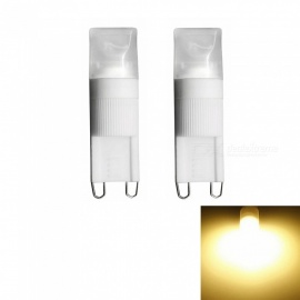 Sencart 2PCS G9 1W COB LED 3000K Warm White Frosted Transparent Decorative Lights (AC 220V)