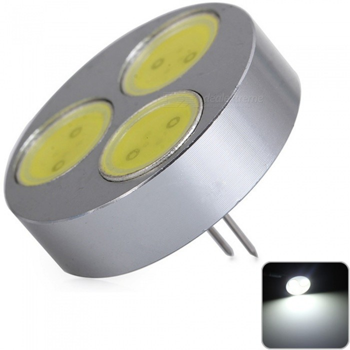 Sencart Round G4 COB 3LED Bulbs Car Marine RV Camper Home Lamp Spot Light White DC 12VG4<br>ColorWhiteModelG4MaterialAluminum+LED+PCBForm  ColorSilverQuantity1 piecePowerOthers,4.5WRated VoltageOthers,12 VConnector TypeG4Chip BrandLUMILEDSChip TypeCOBEmitter TypeCOBTotal Emitters3Theoretical Lumens360 lumensActual Lumens320 lumensColor Temperature6000KDimmableNoBeam Angle180 °Packing List1 x G4 Light Blub<br>
