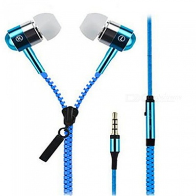 OJADE Stereo In-Ear Metal 3.5mm Wired Earbuds Earphone, Handsfree Headphone with Mic for Player Samsung IPHONE - Blue