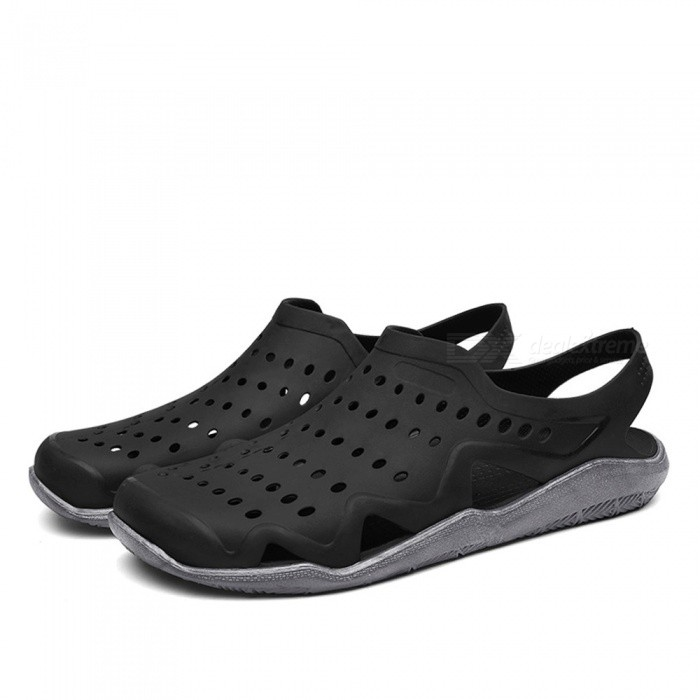 CTSmart 1512 Summer Outdoor Breathable Beach Shoes - Black (40)ColorBlackSize40Model1512Quantity1 setMaterialPVCGenderMenPacking List1 x Pairs of Shoes<br>
