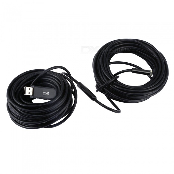 2.0MP PAL USB Endoscope, 6-LED VGA CMOS HD Waterproof 9mm Wire ...