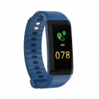 TF4 Color Screen Waterproof Sports Smart Bracelet with Heart Rate Monitor, Sleep Monitoring - Blue
