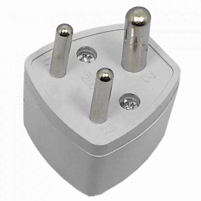 India / Nepal / Sri Lanka / Small South Africa 250V 10A Power Plug - WhitePlugs &amp; Sockets<br>ColorWhiteQuantity1 pieceMaterialABSFireproof MaterialNoTarget Country &amp; RegionIndia / Nepal / Sri Lanka / Small South AfricaRate Voltage250VRated Current10 ARated Power1000 WCompatible Plug2-Flat-Pin Plug,US Plug,EU Plug (2-Round-Pin Plug),UK Plug,AU PlugGroundingYesWith Switch ControlNoSurge Protection FunctionNoLightning Protection FunctionNoWith FuseNoPower AdapterOthers,3-RoundPacking List1 x Power Plug<br>