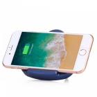 Triangle holder 5v 1a fast wireless charging charger for note 8 / s8 / s7, iphone 8 / 8 plus / x - blue