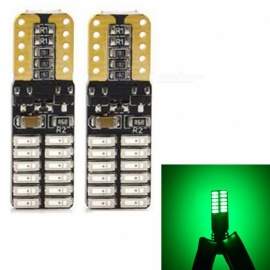 JRLED T10 3W Green 4014 24-SMD LED Indicator Lamp, Reading Light (2 PCS / DC12V)