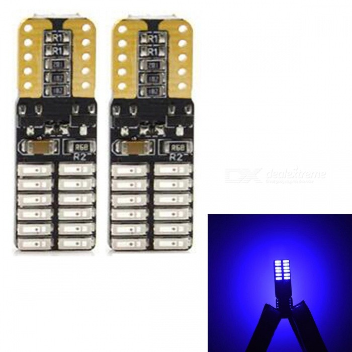 JRLED T10 3W Blue 4014 24-SMD LED Indicator Lamp, Reading Light (2 PCS / DC12V)Car Interior Lights<br>Emitting ColorBlueModelJR-T10 LEDQuantity2 piecesMaterialsoft fiber+LEDPower3 WWorking VoltageDC12VConnectorOthers,T10Bulb Specification4014 SMDBrightness180LmColor BIN460nmApplicationFront Turn Signals Bulb,Rear Turn Signals Bulb,Brake BulbCertificationCE ROHSOther FeaturesUltra small size, with 4014 SMD high-power lamp, high brightness, Aluminum Alloy heat, the color index above 80, DC12V universal, suitable for all kinds of cars, lamps, license plate lamp, reading lamp, warning lamp.Packing List2 x T10 LED Bulbs<br>