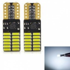 JRLED T10 3W Cold White 4014 24-SMD LED Indicator Lamp, Reading Light (2 PCS / DC12V)