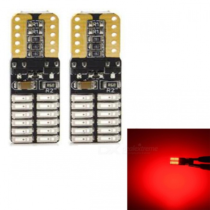 JRLED T10 3W Red 4014 24-SMD LED Indicator Lamp, Reading Light (2 PCS / DC12V)Car Interior Lights<br>Emitting ColorRedModelJR-T10 LEDQuantity2 piecesMaterialsoft fiber+LEDPower3 WWorking VoltageDC12VConnectorOthers,T10Bulb Specification4014 SMDBrightness200LmColor BIN635nmApplicationFront Turn Signals Bulb,Rear Turn Signals Bulb,Brake BulbCertificationCE ROHSOther FeaturesUltra small size, with 4014 SMD high-power lamp, high brightness, Aluminum Alloy heat, the color index above 80, DC12V universal, suitable for all kinds of cars, lamps, license plate lamp, reading lamp, warning lamp.Packing List2 x T10 LED Bulbs<br>