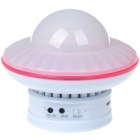 Mini UFO Shaped Rechargeable Battery Power MP3 Music Speaker with 7-Color Light/SD/USB/AUX