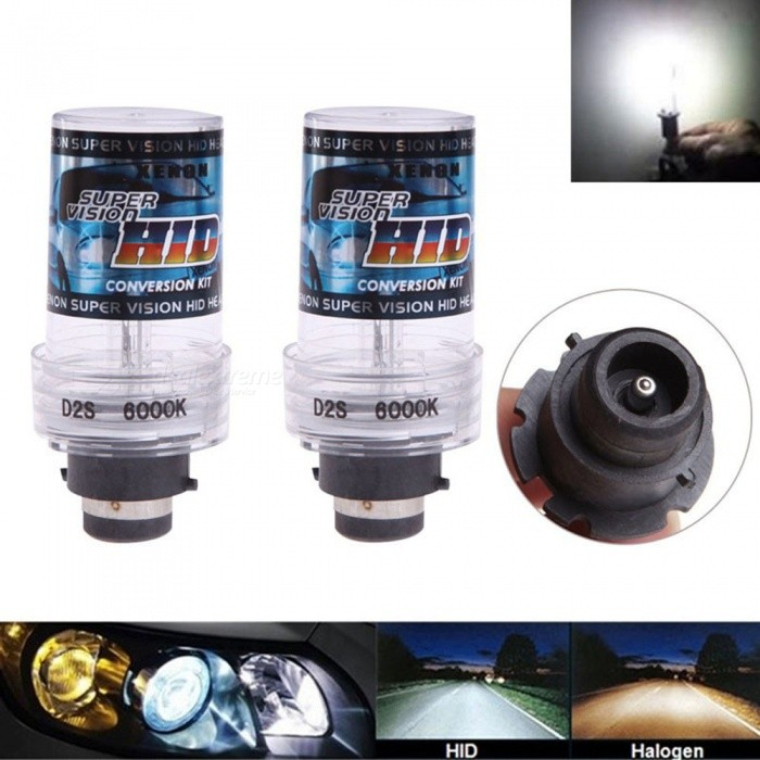 2Pcs D2S 12V 35W 3000K Car Vehicle Light Headlight, HID Xenon BulbsHeadlights<br>Color3000KModelD2SQuantity2 piecesMaterialPlastic,Metal,GlassPower35 WWorking Voltage12VConnectorOthers,D2SBulb SpecificationHODApplicationHigh Beam Lamp,Low Beam LampPacking List2 x HID Xenon Lights<br>