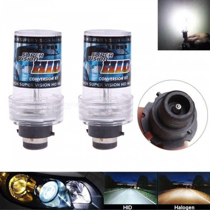 2Pcs D2S 12V 35W 6000K Car Vehicle Light Headlight, HID Xenon BulbsHeadlights<br>Color6000KModelD2SQuantity2 piecesMaterialPlastic,Metal,GlassPower35 WWorking Voltage12VConnectorOthers,D2SBulb SpecificationHODApplicationHigh Beam Lamp,Low Beam LampPacking List2 x HID Xenon Lights<br>