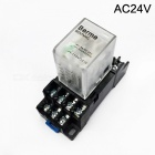 Bemm4c ac 24v coil 4pdt 14 pins electromagnetic power relay w/ dyf14a base
