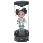 Cute Doll-in-Glass Tube Portable Rechargeable MP3 Music Speaker with SD/USB/AUX