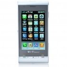 "3,2 ""Touch Screen Dual SIM Dual Network Standby Quadband GSM TV Cell Phone w / WiFi + JAVA - White"