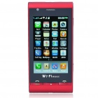 "3,2 ""Touch Screen Dual SIM Dual Network Standby Quadband GSM TV Cell Phone w / WiFi + JAVA - Red"