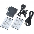 "F160 2.0"" LCD Quad SIM Quad Network Standby Quadband GSM TV Cell Phone with FM/JAVA - Black"