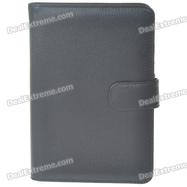 Protective PU Leather Case with Magnetic Buckle for Samsung P1000 - Black