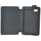 Protective PU Leather Case with Stand Holder for Samsung P1000 - Black
