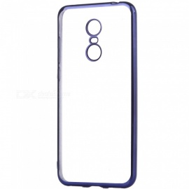 ASLING Electroplating TPU Soft Cover Protector, Transparent Back Case for Xiaomi Redmi 5 Plus - Blue