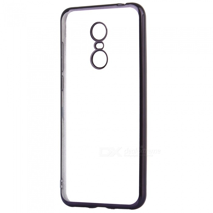 ASLING Electroplating TPU Soft Cover Protector, Transparent Back Case for Xiaomi Redmi 5 Plus - BlackTPU Cases<br>ColorBlackModelASL-Redmi 5 PlusMaterialTPUQuantity1 pieceShade Of ColorBlackCompatible ModelsRedmi 5 PlusPacking List1 x Protective Case<br>