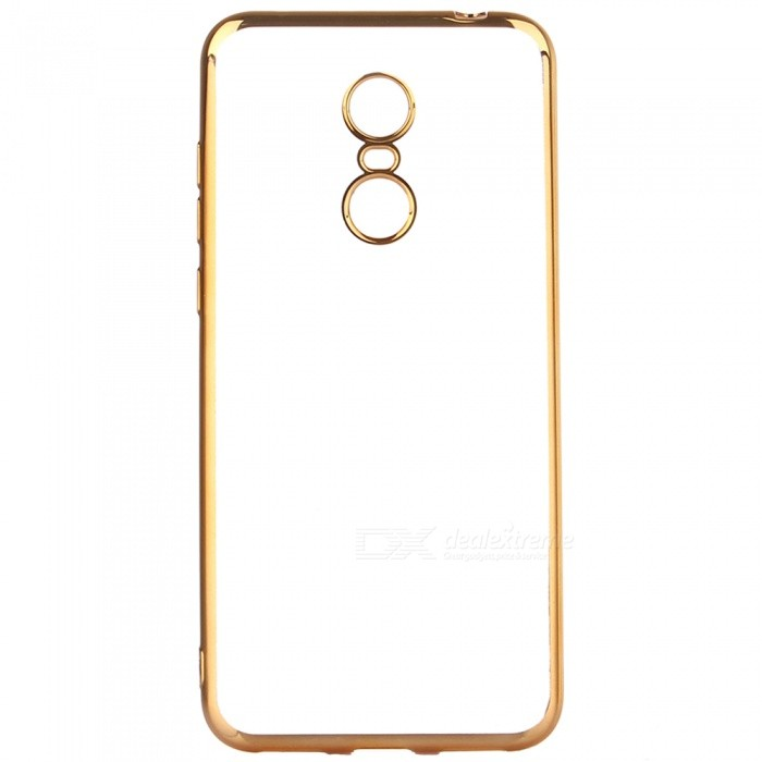 ASLING Electroplating TPU Soft Cover Protector, Transparent Back Case for Xiaomi Redmi 5 Plus - GoldenTPU Cases<br>ColorGoldenModelASL-Redmi 5 PlusMaterialTPUQuantity1 pieceShade Of ColorGoldCompatible ModelsRedmi 5 PlusPacking List1 x Protective Case<br>